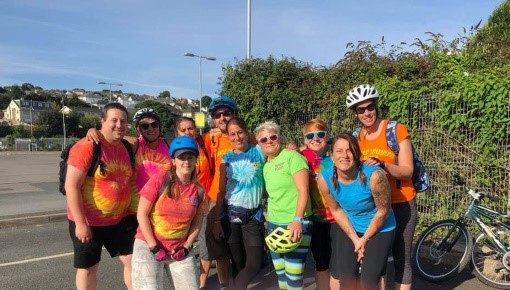 Alexandras Community Care at their Redruth Cycle Day Cornwall
